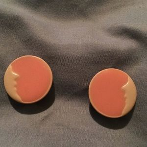 Vintage earrings, clip ons